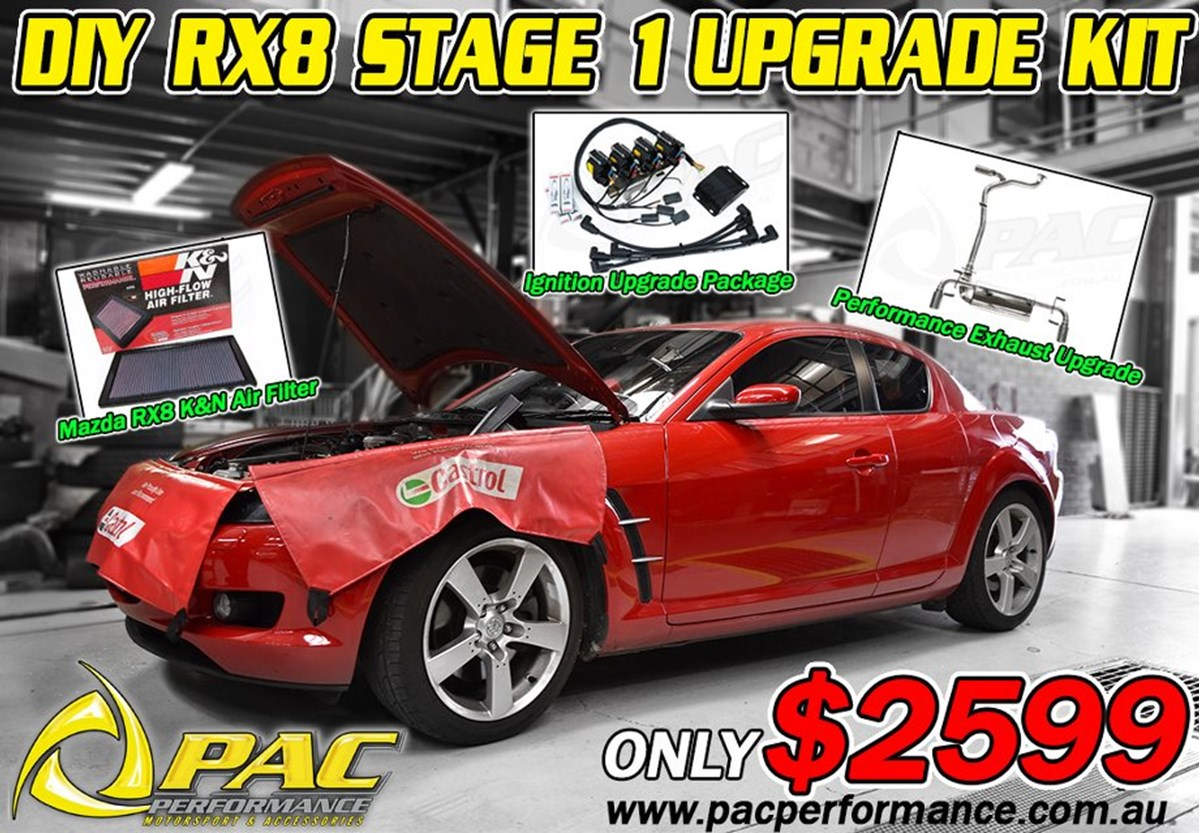 Stage 1 Rx8 Upgrade Pac Performance Racing Mazda Rx 8 Wiring Harness Available For A Limited Time Only Is This Diy Kit Which Includes Our Ignition Package Kn Air Filter And