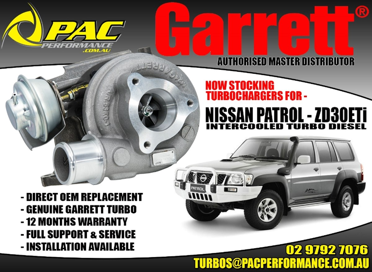 GARRET TURBOS FOR NISSAN PATROL ZD30ETi INTERCOOLED TURBO