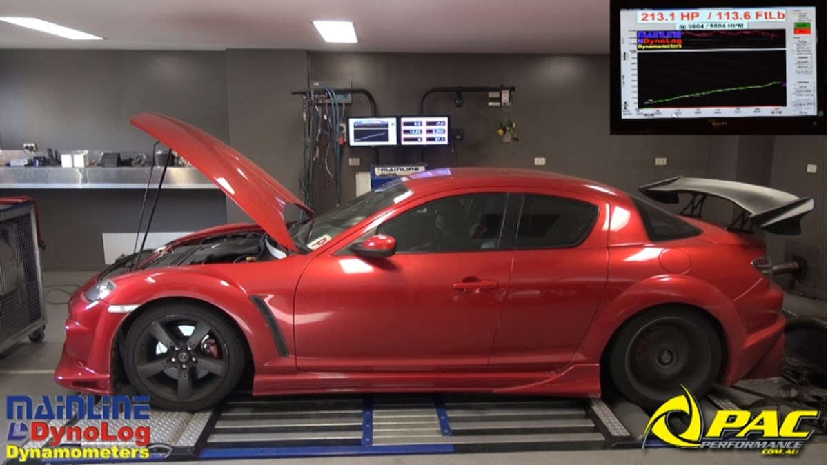 BREAKING NEWS: RX8 STAGE 2 POWER UPGRADE HITS 213 1 HP  Pac